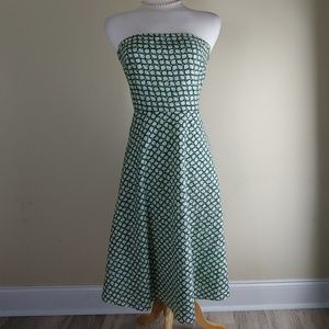 J. Crew strapless cotton lined fit & flare dress
